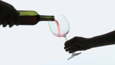 Glass of red wine — Stock Video