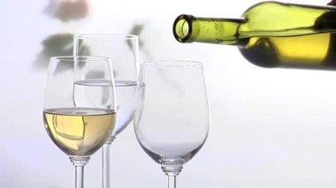 Three wine glasses — Stock Video