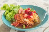 Spicy salad with Strawberry — 图库照片