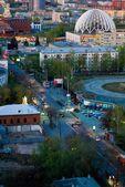 View on evening Yekaterinburg — Stock Photo
