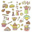 Accessories for tea and coffee — Stock Vector #69703821