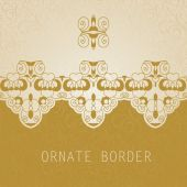 Ornate border invitation card — Stock Vector