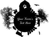 Silhouette farm logo. — Stock Vector