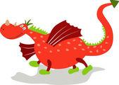 Cartoon dragon. — Stock Vector