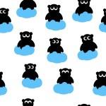 Seamless pattern of bears — Stock Vector #71583393