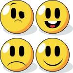 Cartoon Smiley Faces. — Stock Vector #73492503