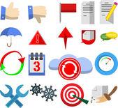 Internet e web ícones — Vetor de Stock