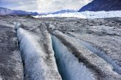 Close Up View on Top of Glacier - Alaska — Stock Photo