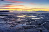 Alaska Sunset over Seashore — Stock Photo