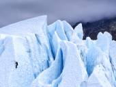 Ice Climber Attacking A Glacier - Alaska — Stock Photo