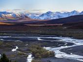 Alaska River Valley - Denali — Stock Photo