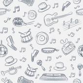 音楽のシームレスなパターン — ストックベクタ