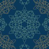 Mandala seamless pattern — Stock Vector