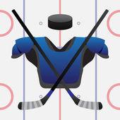 Hockey game — Stock Vector