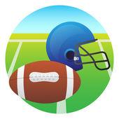Casco y la bola — Vector de stock