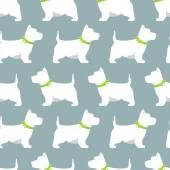 White dog on a dark background — Stockvektor