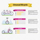 Infografiki rowerów — Wektor stockowy