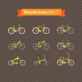 Types of bicycles — Stock Vector