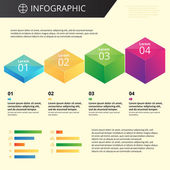 Infographics template — Stock Vector