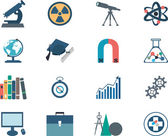 Science flat vector icons — Stock Vector