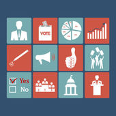 Politics, Voting and elections icons - vector icon set — Stock Vector