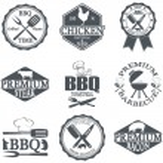 Set of butcher shop labels — Stock Vector #75605349