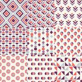 Retro handrawn geometric patterns — Stock vektor