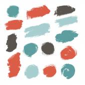 Hand drawn paint strokes. — Stock Vector