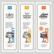 Vintage Bakery vertical banner collection — Stock Vector #80109180