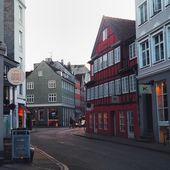 Houses in street of Copenhagen — Stock Photo