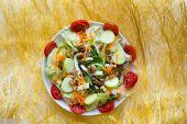 Dish of mix Italian salad — Stock Photo