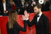 Jamie Dornan, Dakota Johnson and attend the 'Fifty Shades of Grey' premiere — Foto de Stock