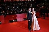 Lily James, Richard Madden attends the 'Cinderella' premiere — Foto de Stock