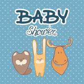 Baby shower invitation card — Stock Vector