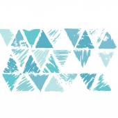 Grunge triangle background — Stock Vector