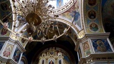 Interior of the Russian Orthodox church — Vidéo