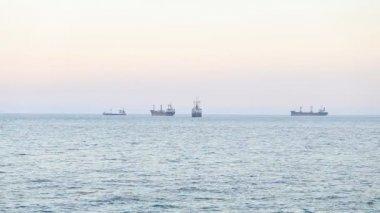 Cargo ship approaching in Turkey — Stock Video