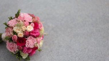 Bridal bouquet — Stock Video