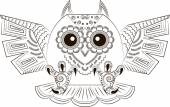 Funny angry owl — Vector de stock