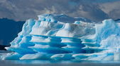 Types of glaciers and icebergs,Argentina — Stock Photo