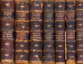 Old books close up — Stock Photo