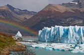 Types of glaciers and icebergs,Argentin — Stock Photo