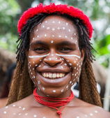 Smiling woman of the tribe — Stock Photo