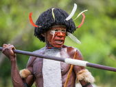 Man of the tribe with spear — Stock Photo