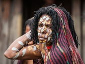 Portrait of woman from the tribe — Stock Photo