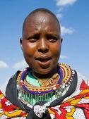 Portrait of Maasai woman — Stock Photo