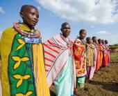 Maasai people with traditional jewelry — Stock Photo