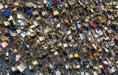 Background from the many of locks — Stock Photo