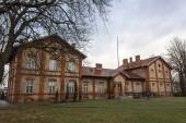 历史性的邮政局建筑在 Aleksandrow Kujawski,波兰 — 图库照片