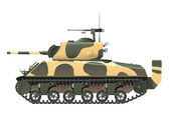 USA Tank — Stock Vector